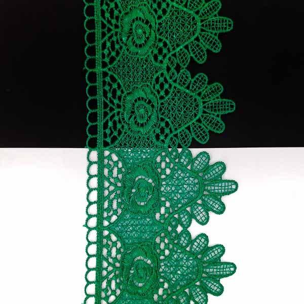 кружево Zira вязаное зеленое, 6-9 см