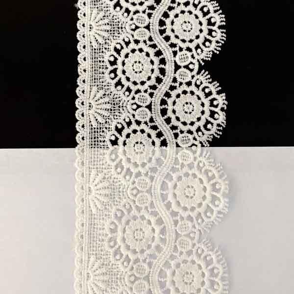 кружево вязаное, матовое, белое, 7-11 см