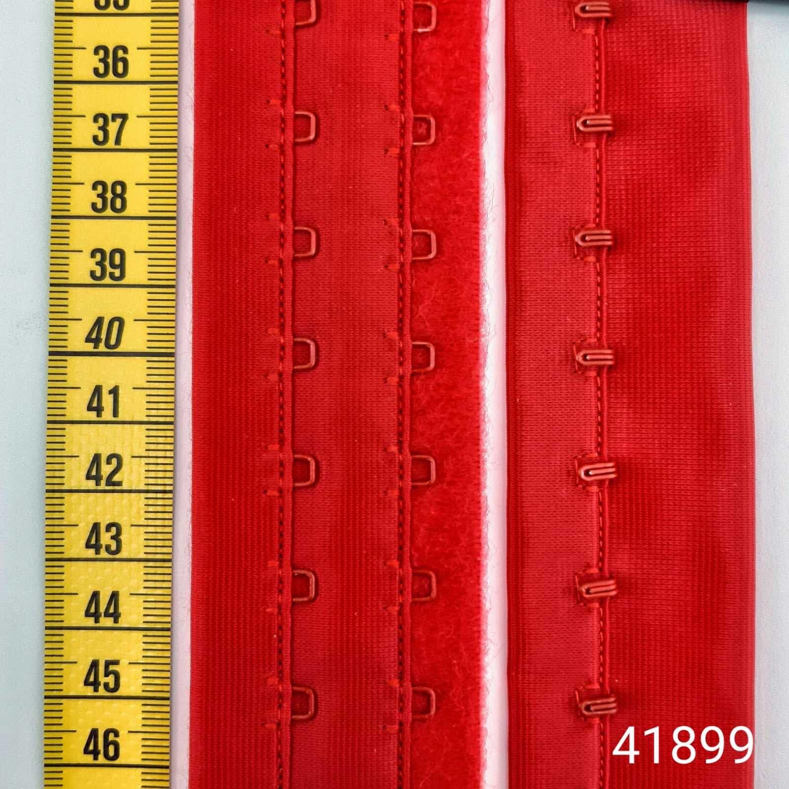 лента с крючками +петли 2х1,  красная