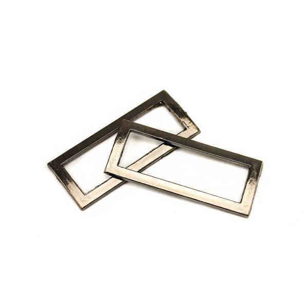 рамка литая черный никель, 37х12 мм