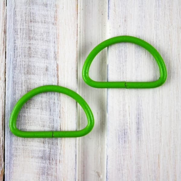 Полукольцо с эмалью зелёное, 20мм