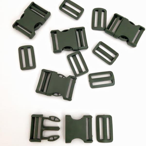 фастекс с рамкой хаки, 4 см