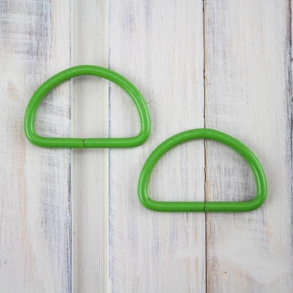 Полукольцо с эмалью зелёное, 25мм