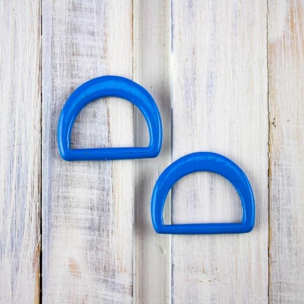полукольцо метал. литое D 18 мм, цвет эмаль синяя, 50 штук