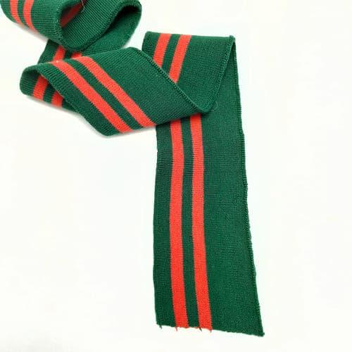 резинка довяз ластик, зеленая с красной полоской