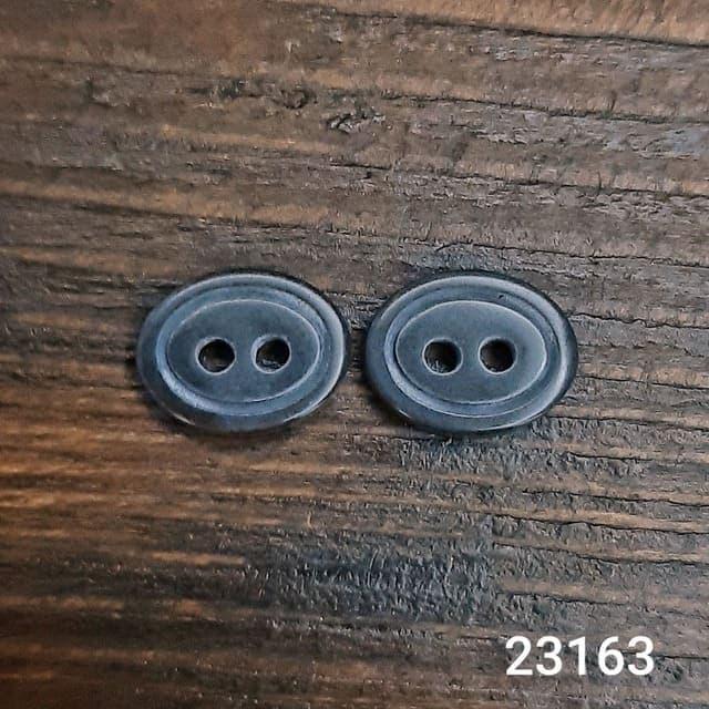 Пуговица рубашечная черная, 11.5 мм