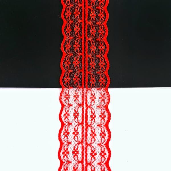 кружево паутинка 4 см, красное