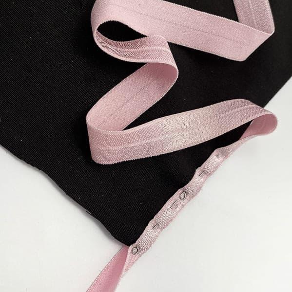 Резинка бейка розовая, 16 мм