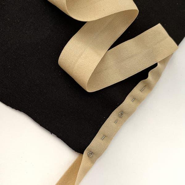 Резинка бейка светло-бежевая (матовая), 20 мм