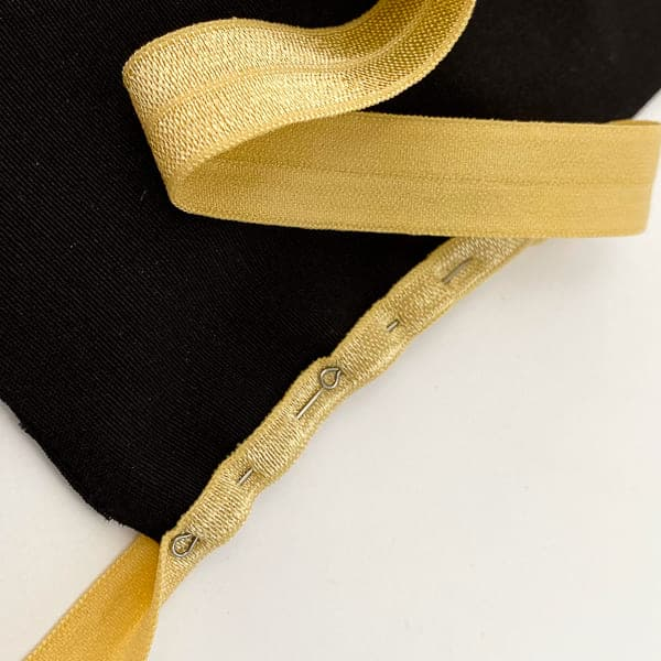 Резинка бейка темно-бежевая, 16 мм