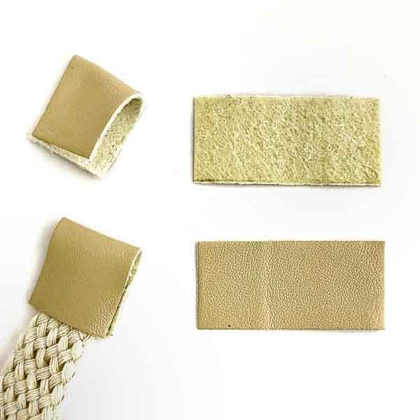 наконечник из кожзама песочный, 2х2 см
