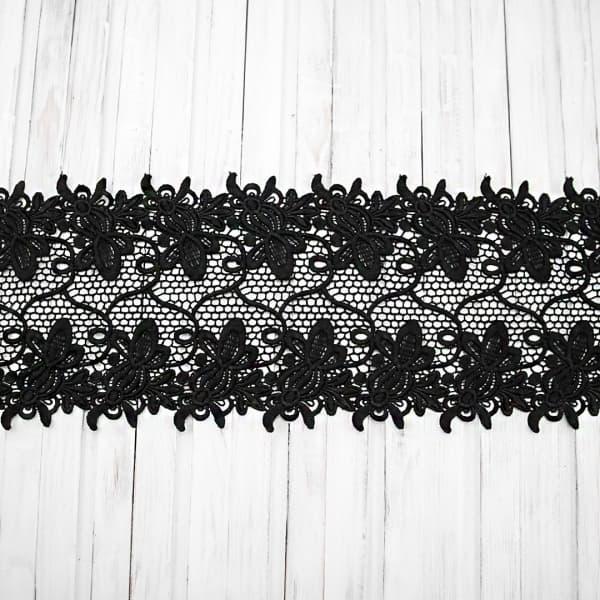 кружево ТТ ришелье черное, 15 см
