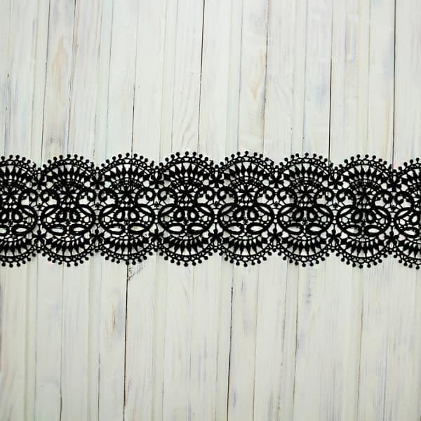 кружево ТТ решилье арт NU220-22, черное, шир 10 см