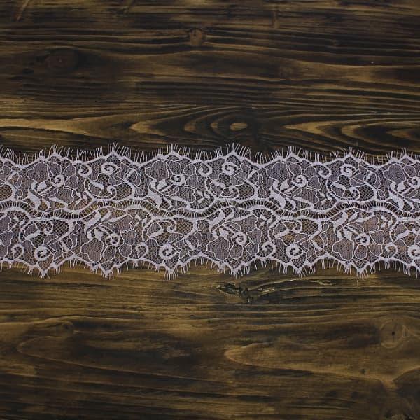кружево Zira шантильи, пепельная роза  11 см