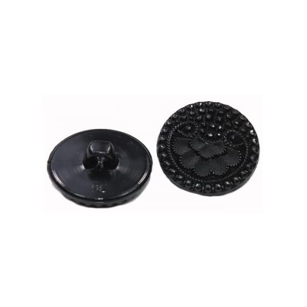 Пуговица чёрная, 30 мм