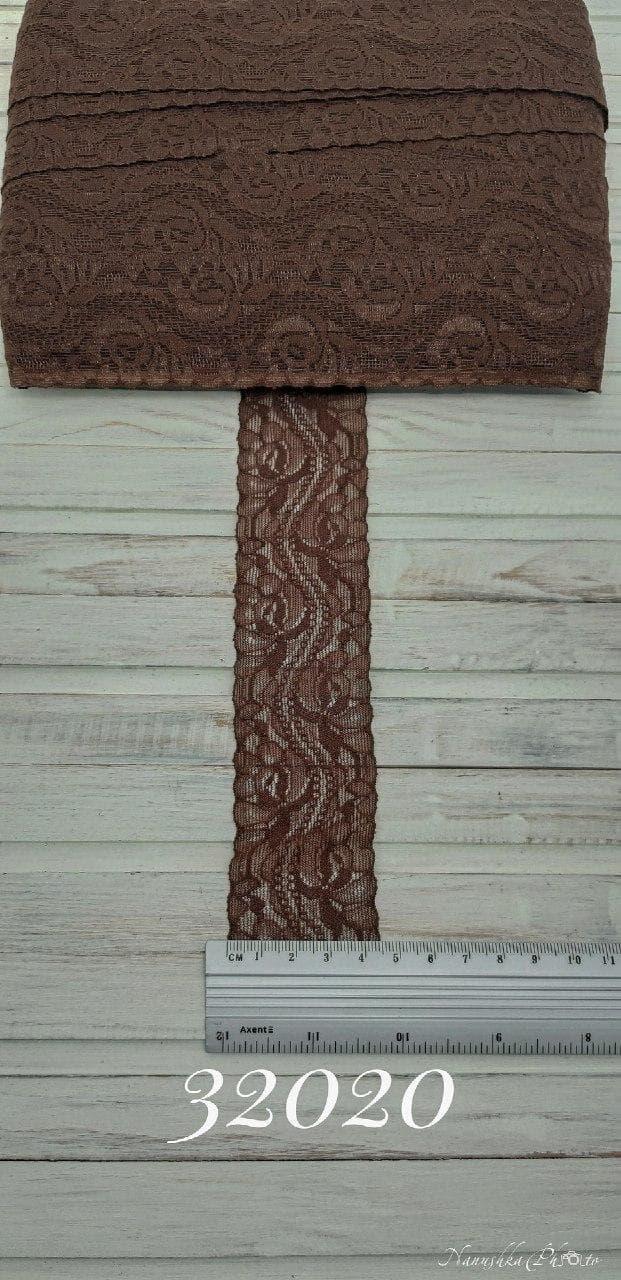 кружево арт.036 коричневое, шир 4 см/мягкое, боб 25 м
