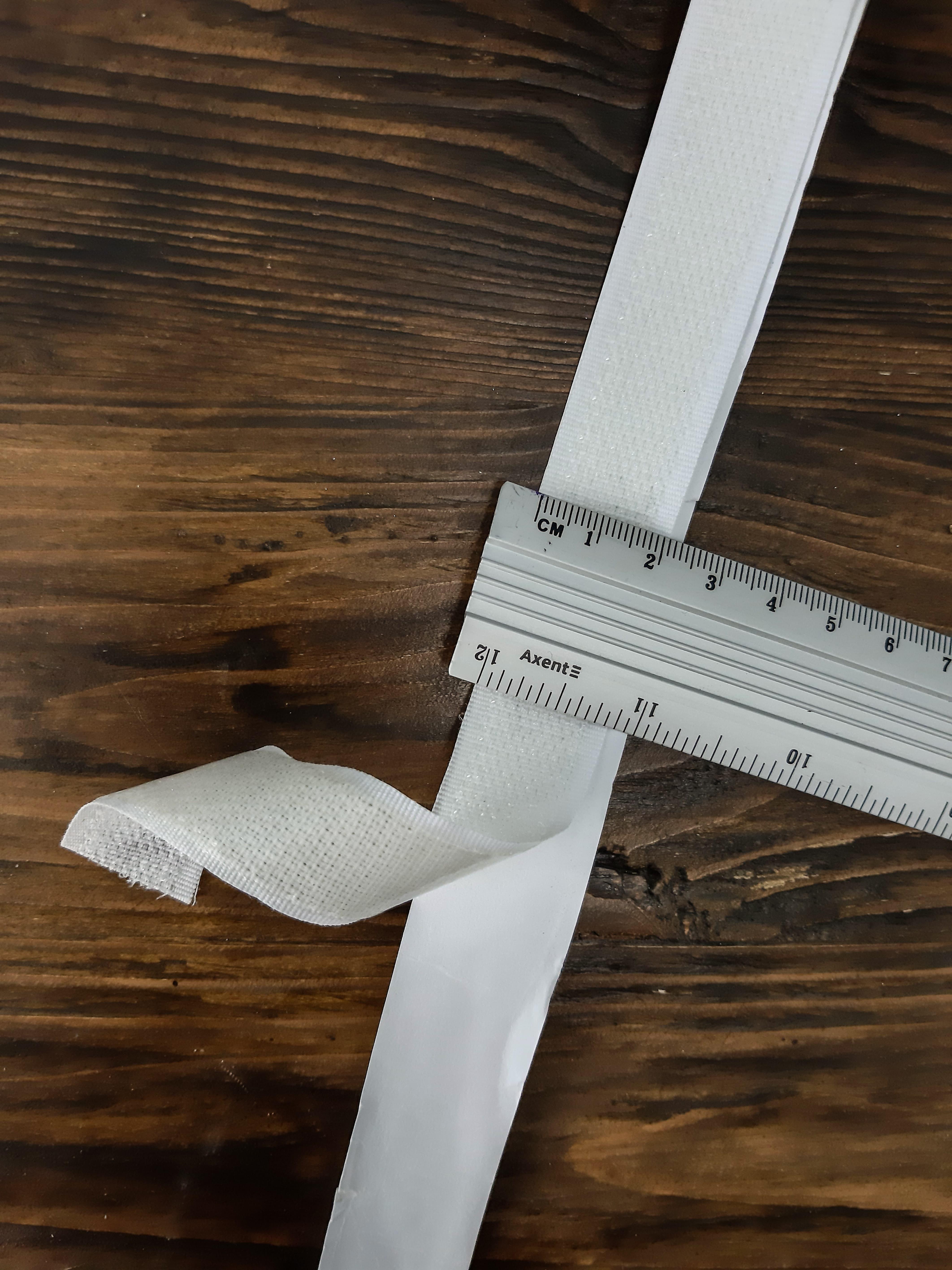липучка 2 см х 25 м/К на клеевой основе -белая