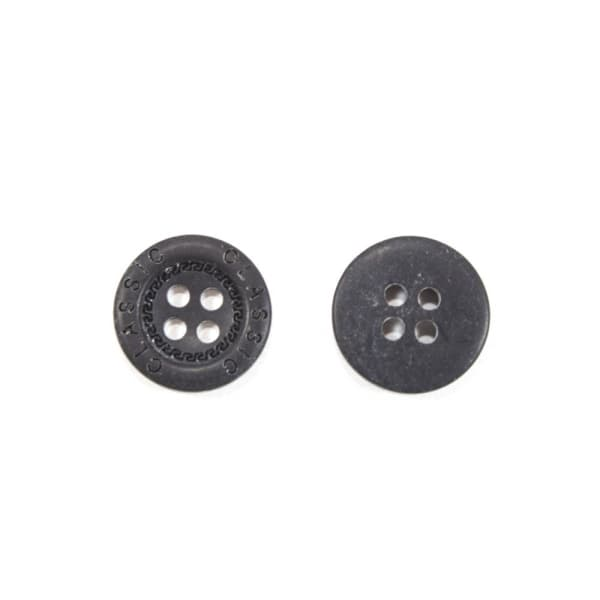 Пуговица чёрная, 15 мм