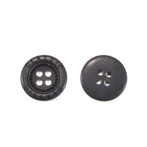 Пуговица чёрная, 18 мм