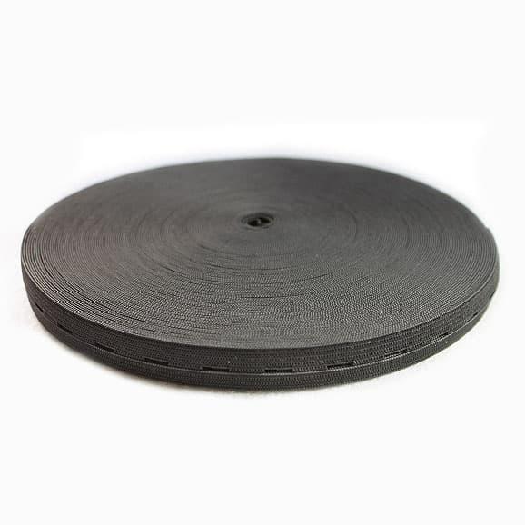 Резинка перфорированная чёрная, 1.8 см