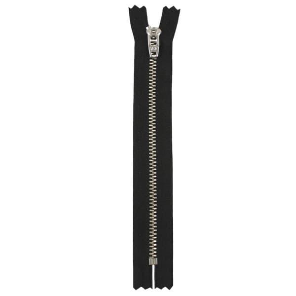 Молния YKK черная+никель, 16 см