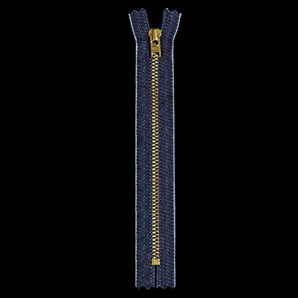 Молния YKK джинс+золото, 16 см