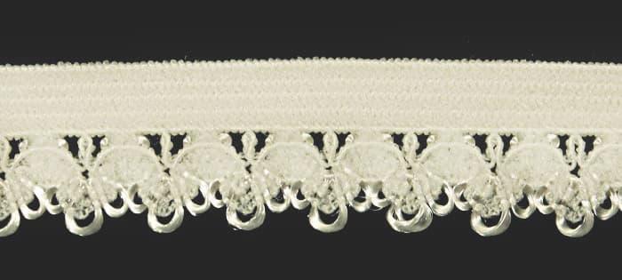Резинка бельевая ажурная айвори, 16 мм