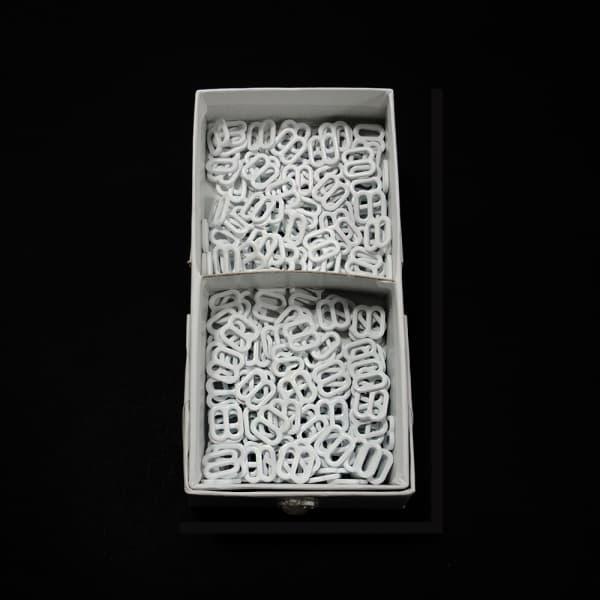 Регулятор восьмерка белая металл, 0.8 см