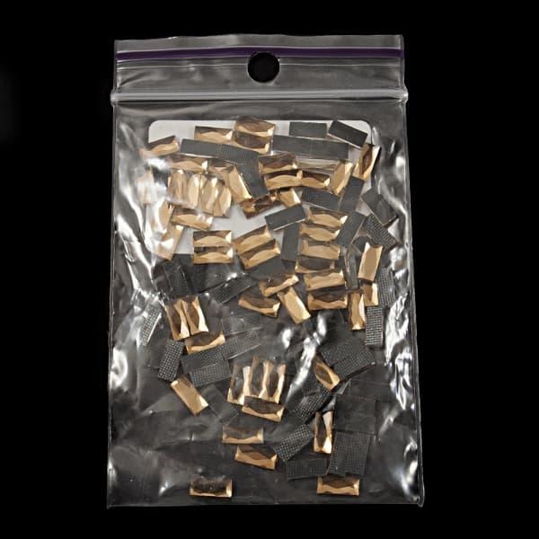 Стразы клеевые золотые, 7х3 мм