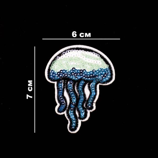 Аппликация клеевая Медуза, из пайеток 6х7 см