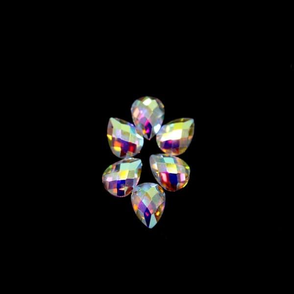 Стразы клеевые Drop, 6x8 мм