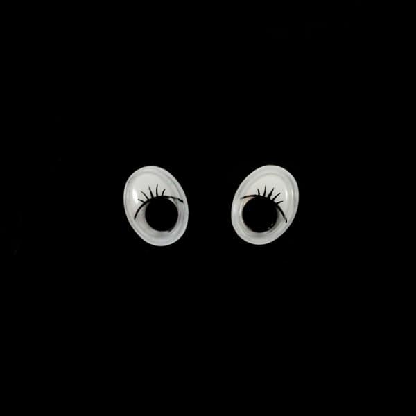 Глазки бегающие,овальные,черные, 10х13 мм