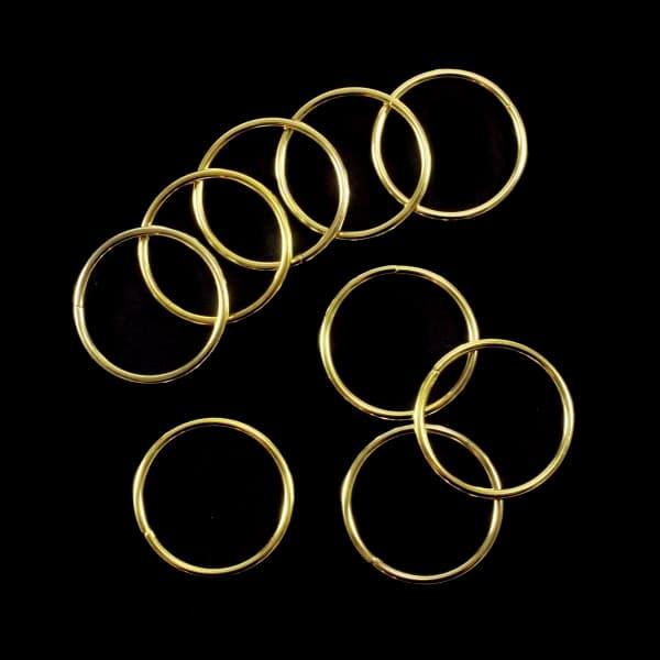 Кольцо из проволоки золото, 30 мм