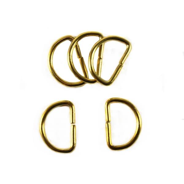 Полукольцо из проволоки золото, 20 мм