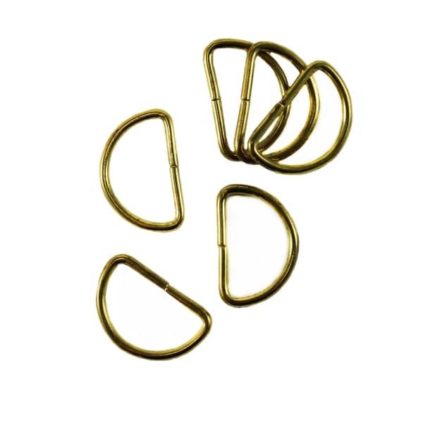 Полукольцо из проволоки золото, 25 мм