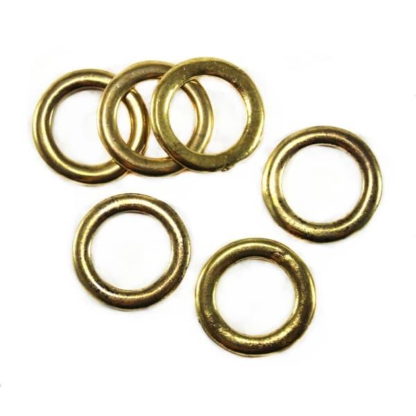 Кольцо литое золото, 20 мм