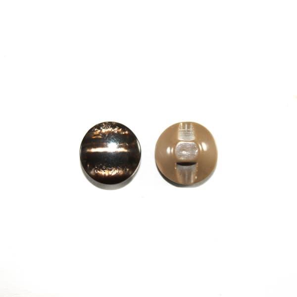 Пуговица полуножка коричневая,12.7 мм