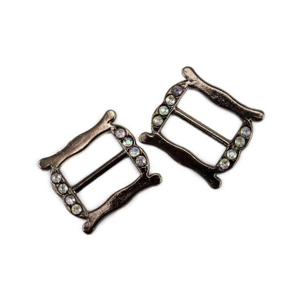 Рамка регулятор черный никель,15 мм
