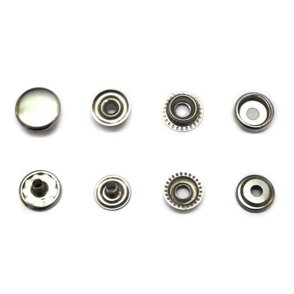 Кнопка средняя никель, 15 мм
