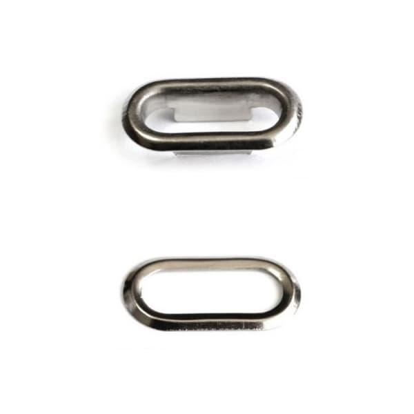 Блочка никель, 20мм овальная +кольцо