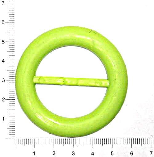 Пряжка круглая зелёная, 38 мм