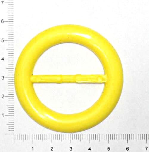 Пряжка круглая жёлтая, 38 мм