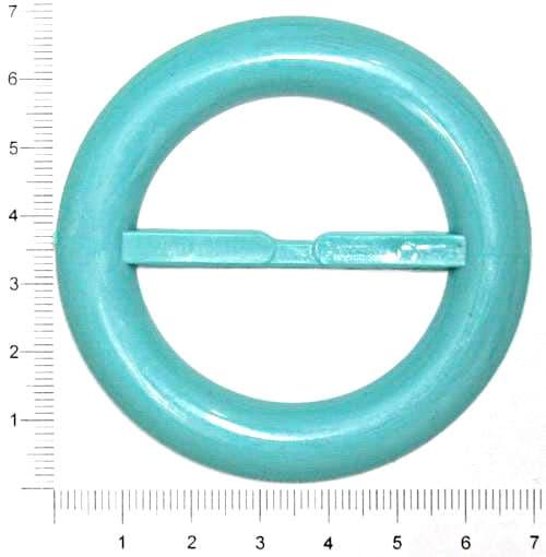 Пряжка круглая голубая, 45 мм