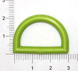 Полукольцо зелёное, 25мм