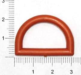 Полукольцо красное, 25мм
