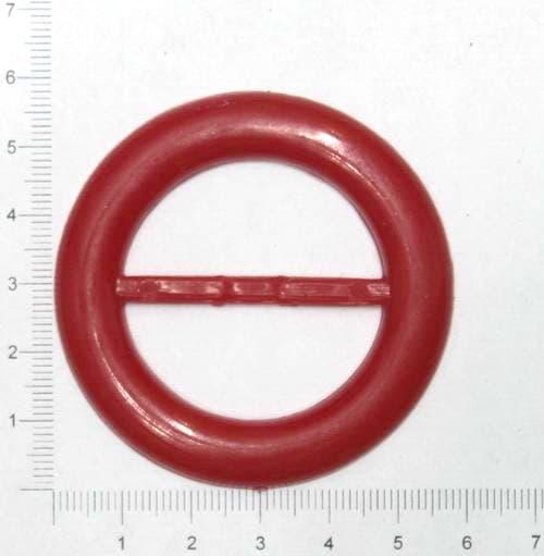 Пряжка круглая красная, 38 мм