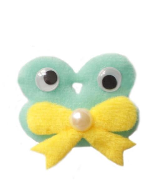 Зелёная Нашивка с глазами объемная арт.031