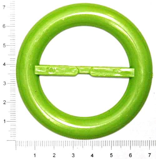 Пряжка круглая зелёная, 50мм