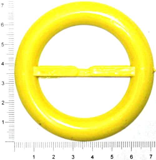 Пряжка круглая жёлтая, 50 мм
