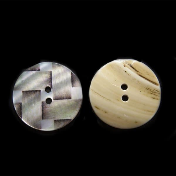 Пуговица коричневая ракушка, 28 мм